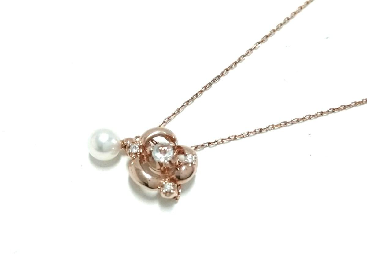 VENDOME(ヴァンドーム青山)のネックレス K10×ダイヤモンド×アイボリー