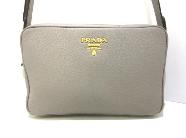 b9b7b18b9c47 PRADA(プラダ) ショルダーバッグ美品 - 1BH079 グレー レザー(12999835 ...