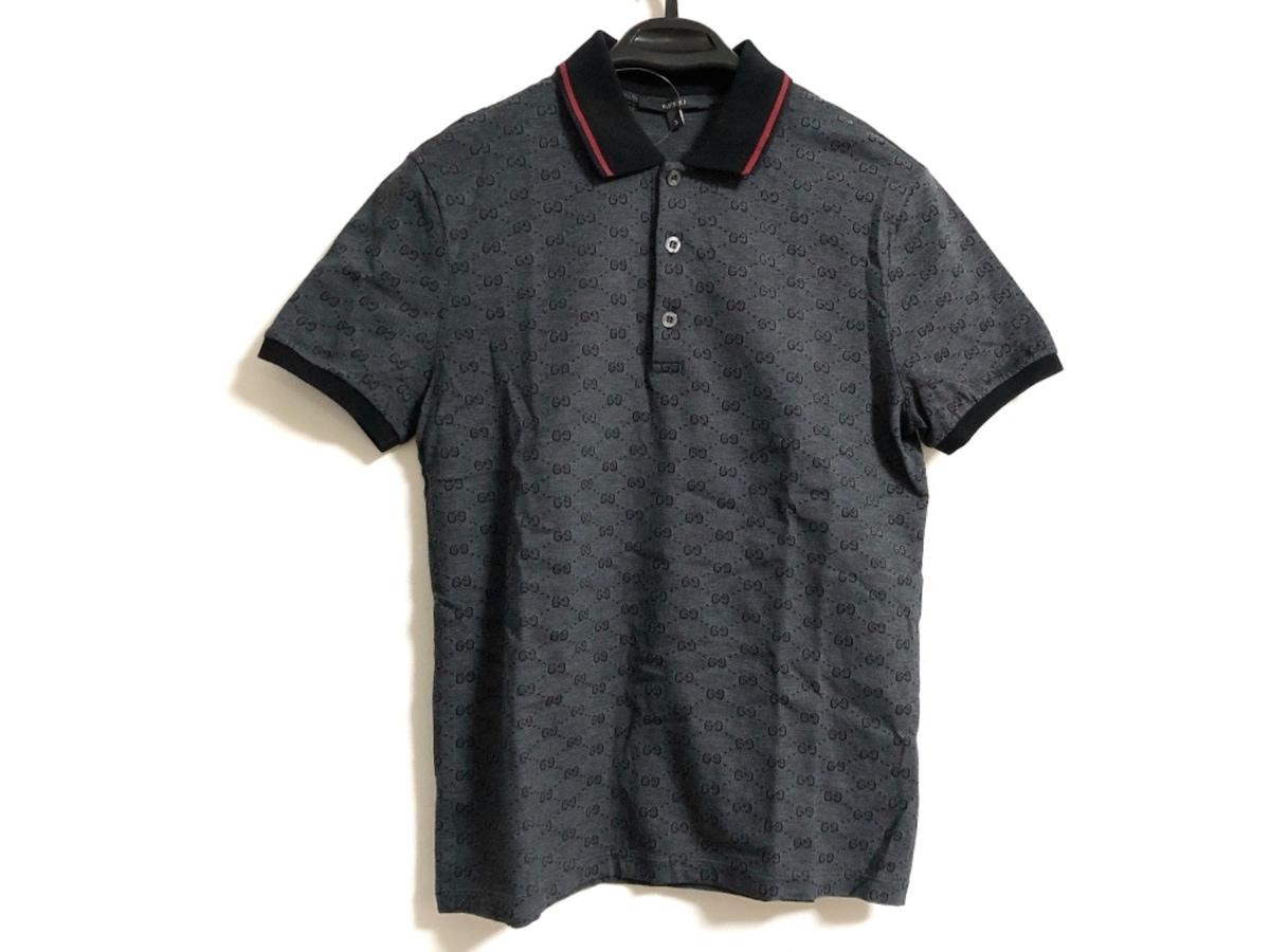sale retailer 83ff7 5aeec GUCCI(グッチ) 半袖ポロシャツ サイズS メンズ GG柄 190181