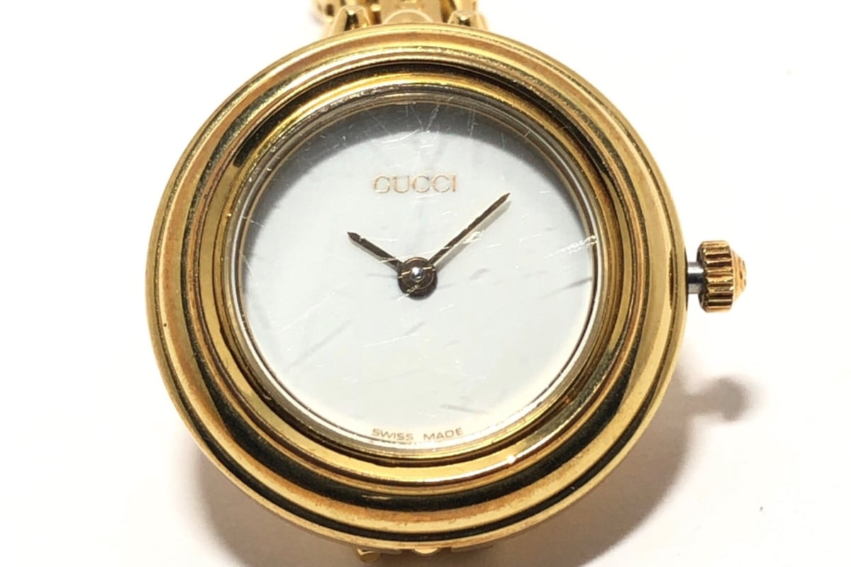 01bcd3319371 GUCCI(グッチ) 腕時計 ベゼルウォッチ 11/12.2 レディース 白(13090251 ...