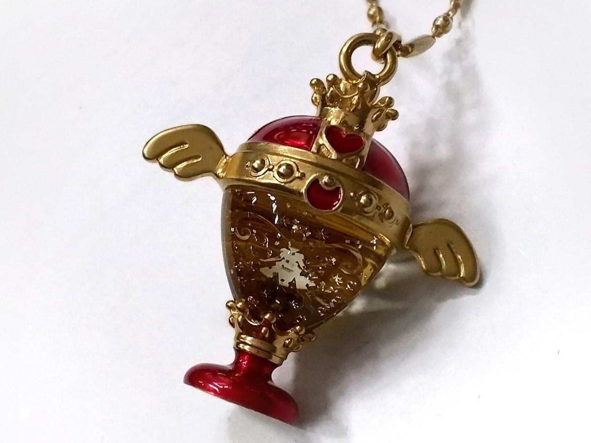 Q-pot.(キューポット)のネックレス ゴールド×レッド
