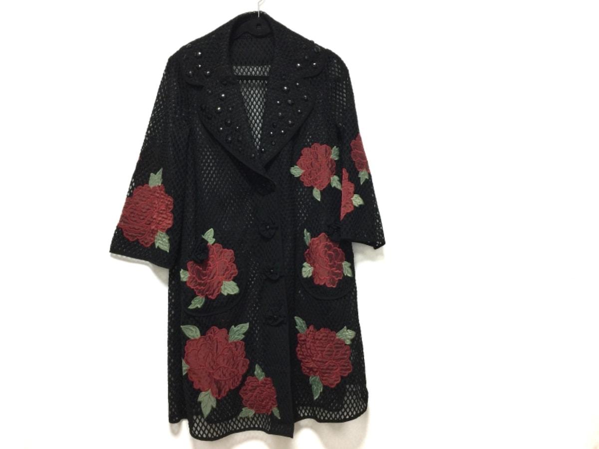 NOKO OHNO(ノコオーノ)のコート 黒×レッド×グリーン