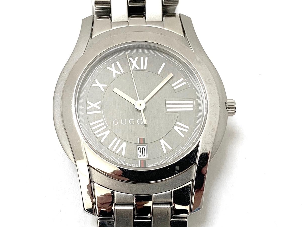 a761ecf42f10 GUCCI(グッチ) 腕時計美品 5500M メンズ グレー(13203035)中古 ...