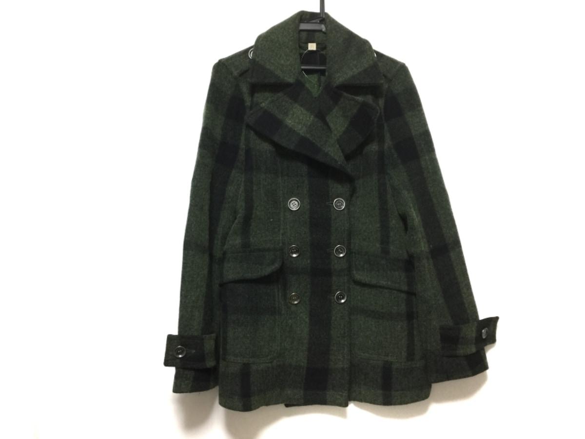 BURBERRY BRIT(バーバリーブリット)のコート ライトグリーン×黒