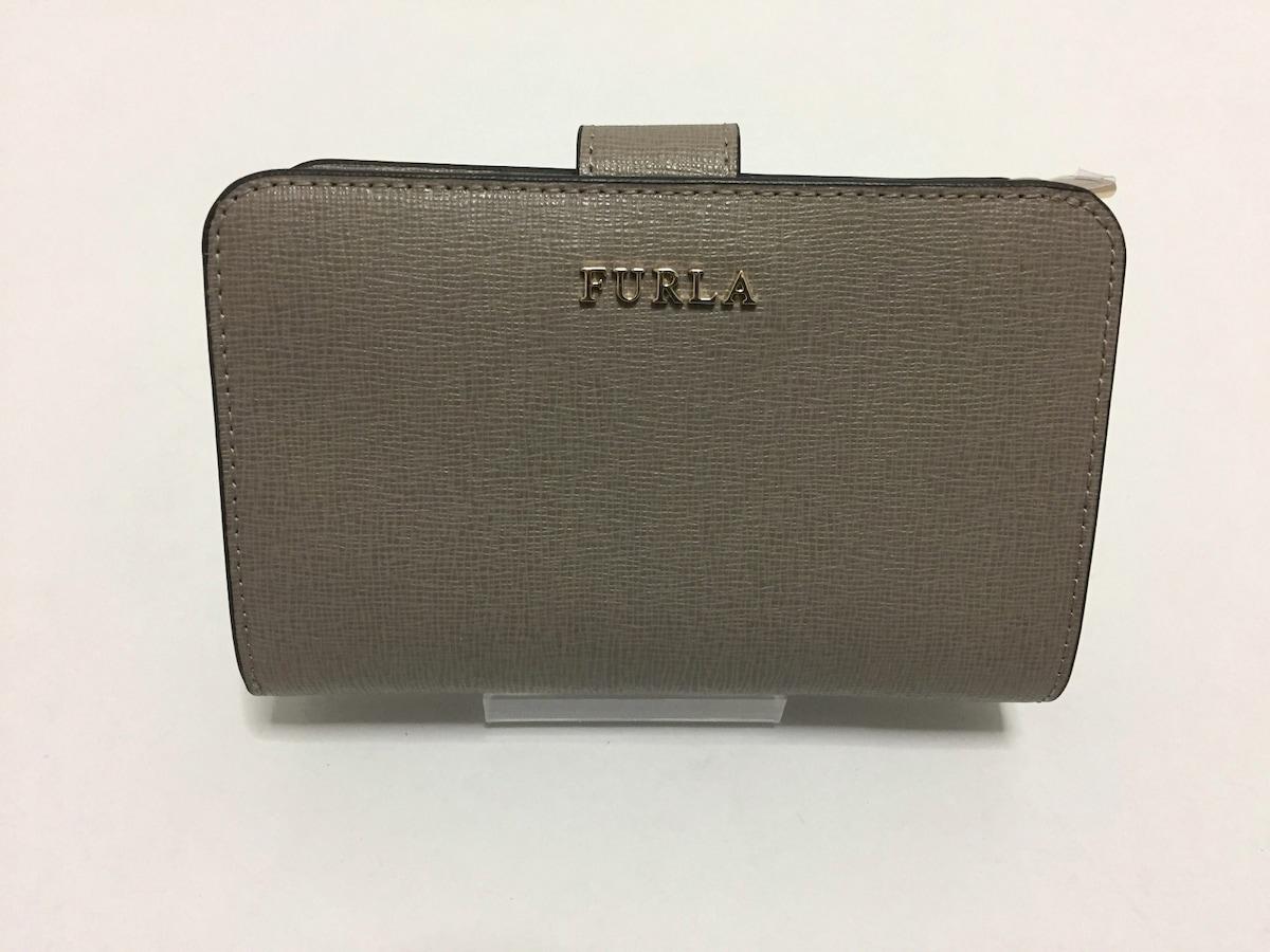 c48a29625cca FURLA(フルラ) 2つ折り財布新品同様 グレージュ レザー(13216180)中古 ...