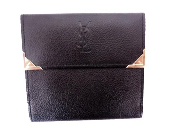 YvesSaintLaurent(イヴサンローラン)のWホック財布 黒