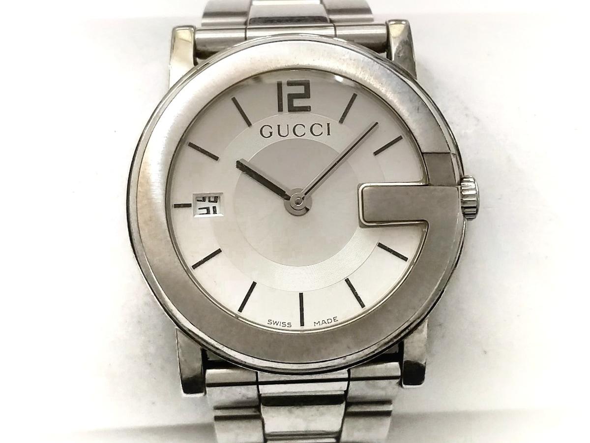 34c2c3e1cd5f GUCCI(グッチ) 腕時計 101J メンズ シルバー(13146996)中古 ブランド ...