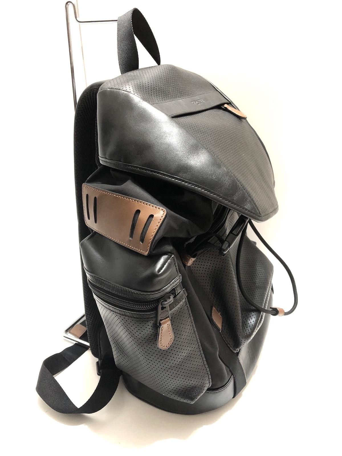 0505e300b729 COACH(コーチ) リュックサック美品 F54777 黒×ブラウン レザー(13119629 ...