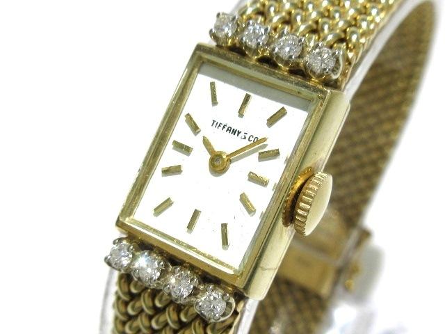 san francisco 6f0b1 5083f ティファニー 腕時計 - レディース K14YG/8Pダイヤ/アンティーク 白