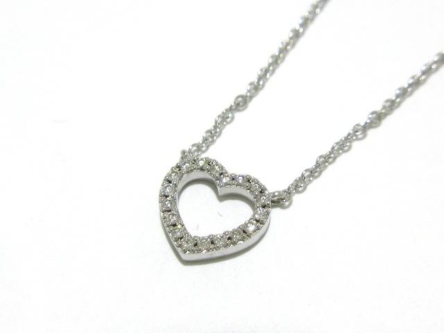 official photos 4ea81 c6fd9 ティファニー ネックレス美品 メトロハート K18WG×ダイヤモンド