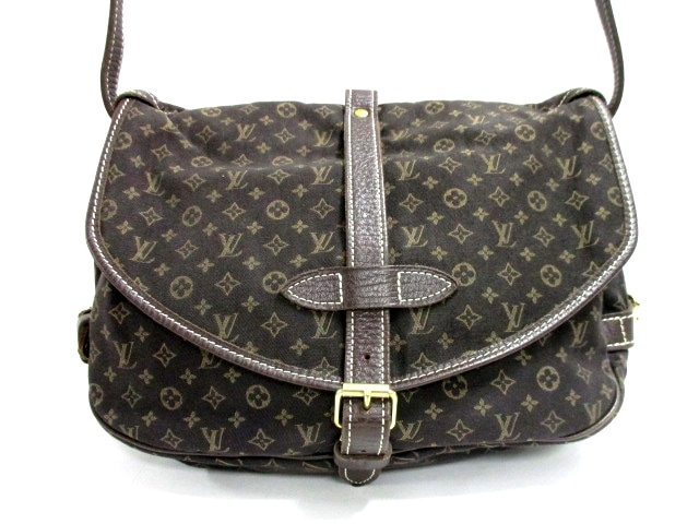 b7307e243 Image is loading Auth-LOUIS-VUITTON-Saumur-M95227-Ebene-Monogram-Mini-