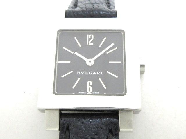 best service 5cde8 b6a3a BVLGARI(ブルガリ) 腕時計 クアドラード SQ22SL レディース 黒