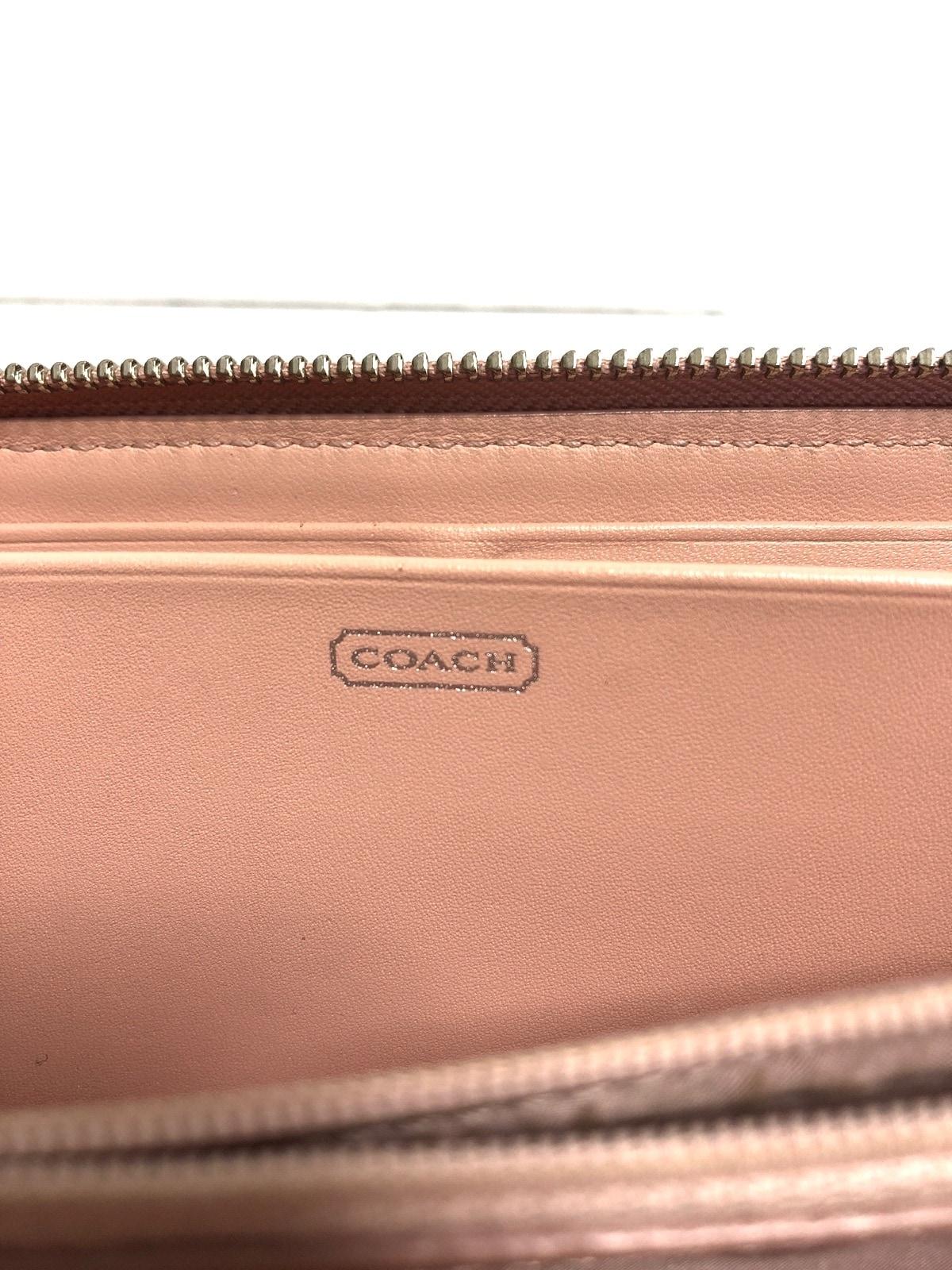 7c27614dd430 ... COACH(コーチ) 長財布 - ピンク ラウンドファスナー/ギャザー レザー 5 ...