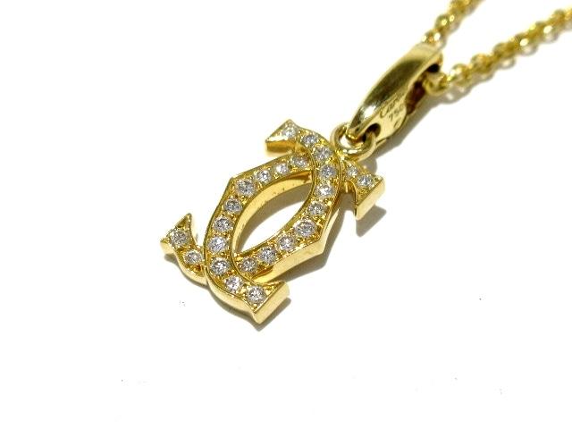 Cartier ネックレス 2Cダイヤチャームネックレス