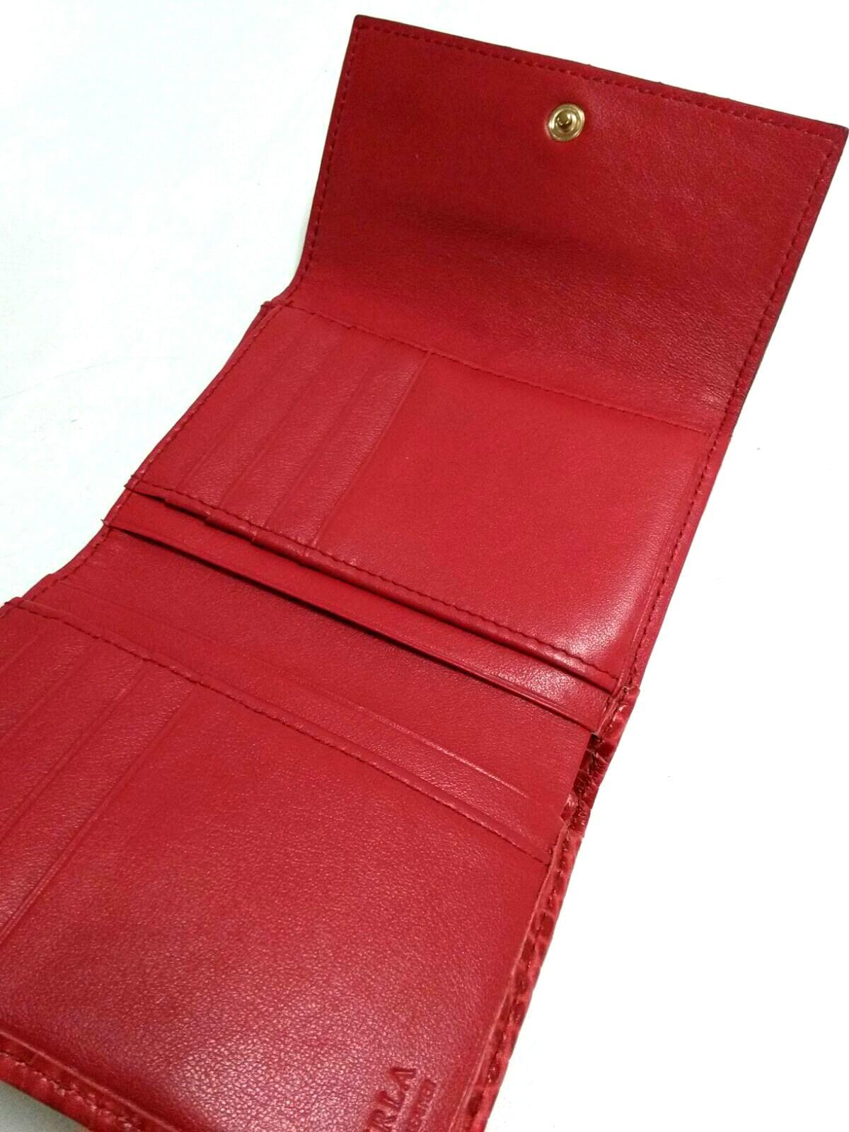 a920446da186 FURLA(フルラ) 3つ折り財布美品 レッド 型押し加工 レザー(13230980 ...