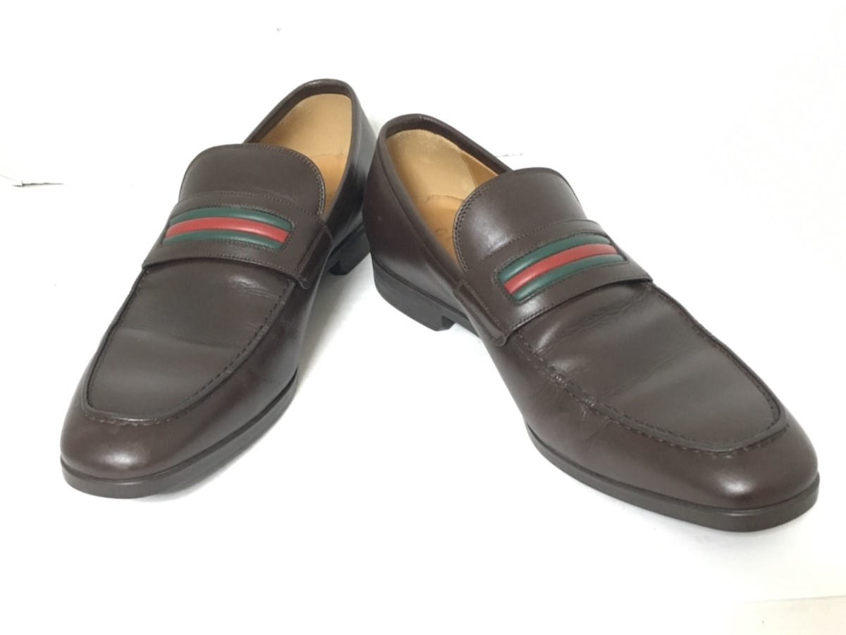 another chance a8465 7f88d GUCCI(グッチ) ローファー 6 2/1 メンズ シェリー 337055 レザー