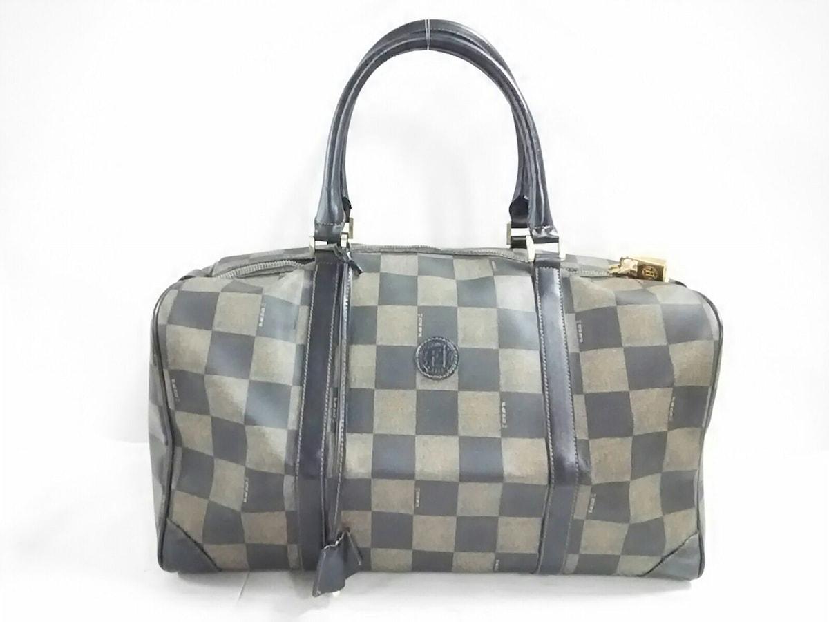 low priced 13233 2855f FENDI(フェンディ) ボストンバッグ美品 ペカン - 黒×ベージュ