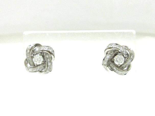 86bb57b49c74 ブシュロン ピアス美品 ピヴォワンヌ K18WG×ダイヤモンド(13277993 ...