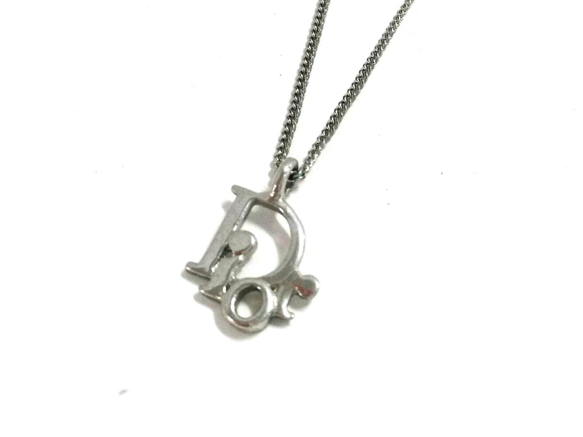 sale retailer 12030 207cd クリスチャンディオール ネックレス美品 金属素材 シルバー