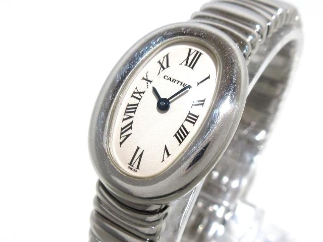 new product 6df15 e7021 カルティエ 腕時計 ミニベニュワール W15189L2 レディース 白