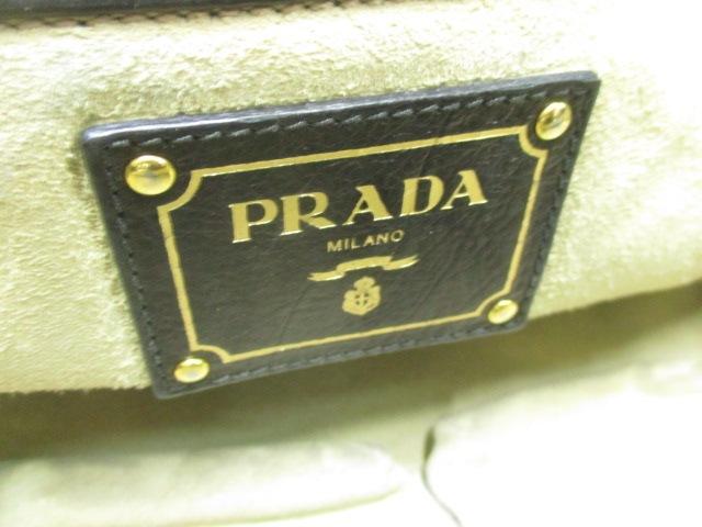 6d0e236406fe PRADA(プラダ) トートバッグ - BN2081 黒 革タグ レザー(13424195)中古 ...
