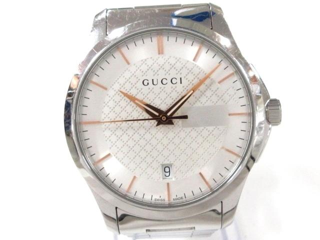 a131c9476bed GUCCI(グッチ) 腕時計 126.4 メンズ 白×シルバー(13209519)中古 ...