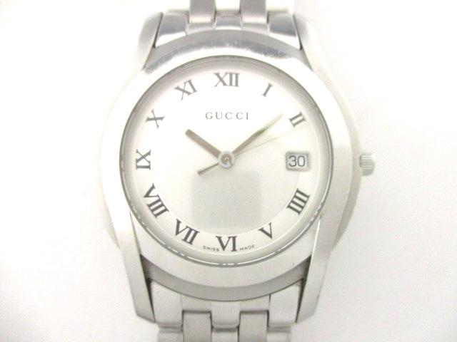 b706402993b8 GUCCI(グッチ) 腕時計 - 5500M メンズ シルバー(13285478)中古 ...