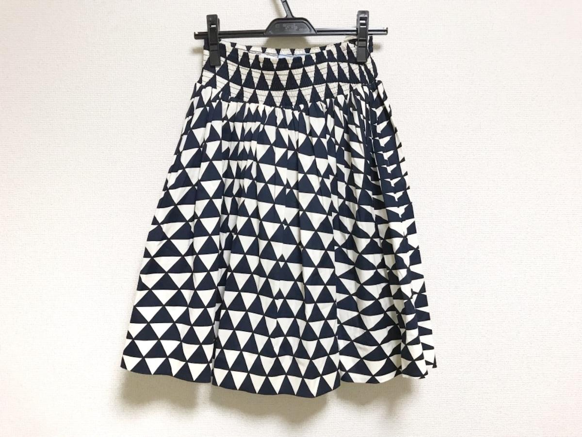 44fabc9611dc プラダ スカート サイズ38s レディース美品 ダークネイビー×白×黒 ...