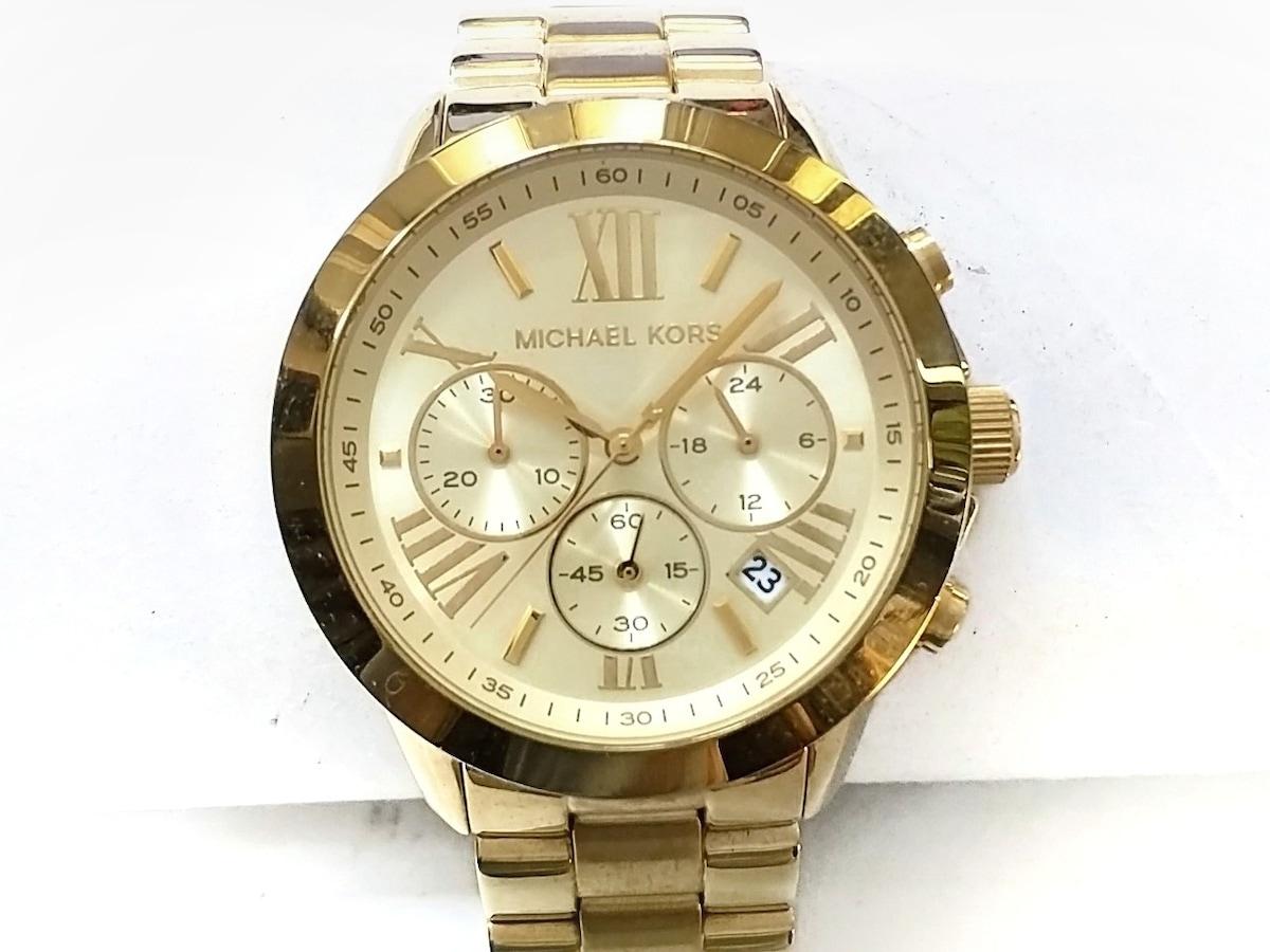 44c0ccb8b461 マイケルコース 腕時計 MK-5777 レディース クロノグラフ ゴールド ...