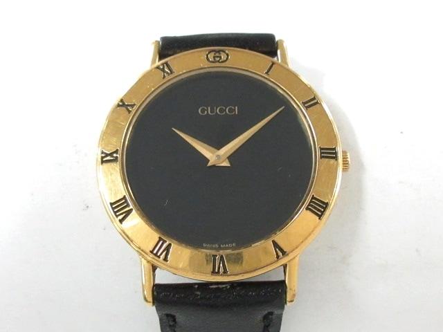 ae83bb042f99 GUCCI(グッチ) 腕時計 3000.2.M メンズ 黒(13391903)中古 ブランド ...