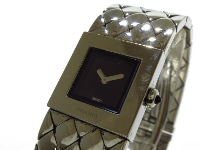 new products 56647 f6a5f CHANEL(シャネル) 腕時計 マトラッセ - レディース 黒