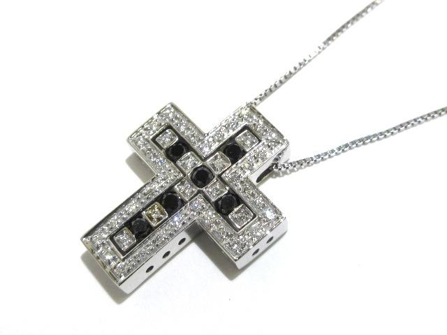 DAMIANI ネックレス ベルエポック/20037227 K18WG×ダイヤモンド×ブラックダイヤ