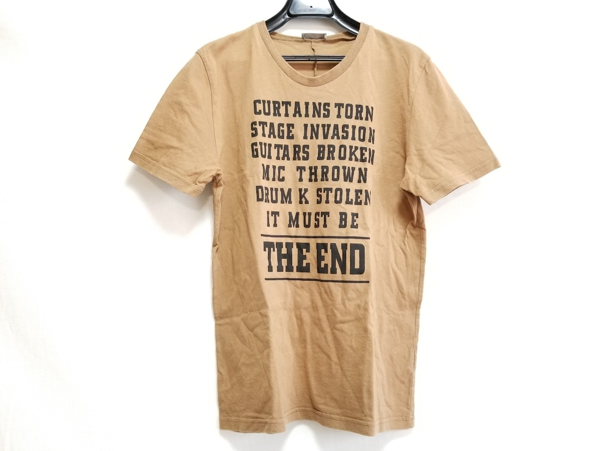 reputable site b3909 1bf17 Dior HOMME(ディオールオム) 半袖Tシャツ メンズ ライトブラウン×黒