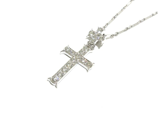 7a35c452292 ChristianDior(クリスチャンディオール) ネックレス美品 クロス ...