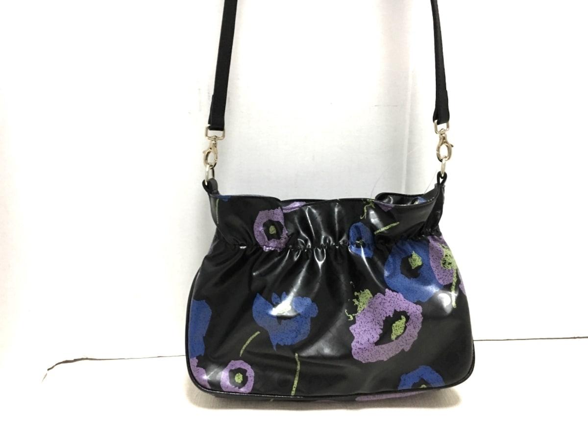 ced6520dbdbf GHERARDINI(ゲラルディーニ) ショルダーバッグ 黒×マルチ 花柄(13436726 ...