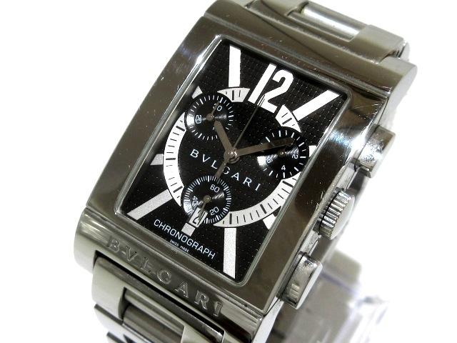 ブルガリ レッタンゴロ クロノグラフ 腕時計