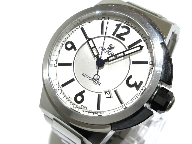 SWAROVSKI(スワロフスキー)の腕時計 白×シルバー