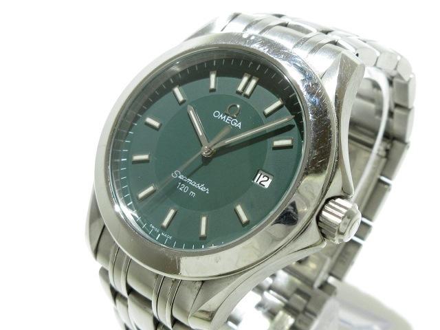 new product 1d162 6ee6c OMEGA(オメガ) 腕時計 シーマスター120m - メンズ グリーン