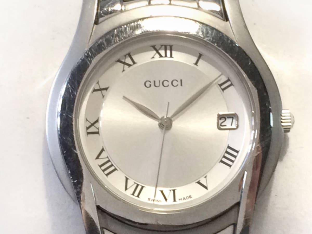 518fe290586e GUCCI(グッチ) 腕時計 5500M メンズ シルバー(13548306)中古 ブランド ...