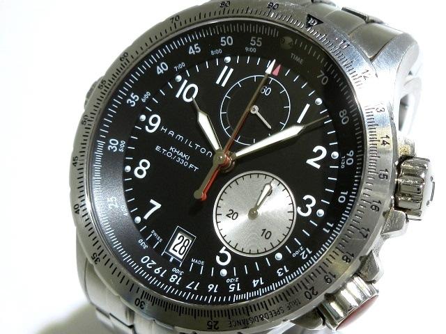 premium selection 51a06 7cbee HAMILTON(ハミルトン) 腕時計 カーキ E.T.O H776121 メンズ 黒
