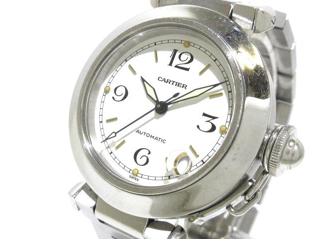 Cartier 腕時計 パシャCスモールデイト W31015M7