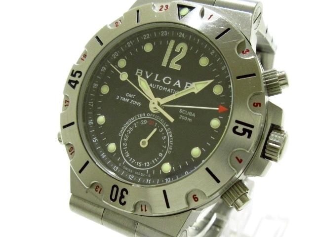 ブルガリ ディアゴノスクーバGMT 腕時計