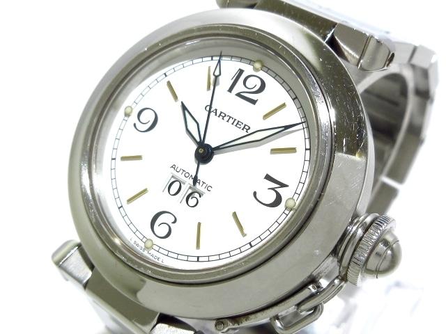 Cartier 腕時計 パシャCビッグデイト W31044M7