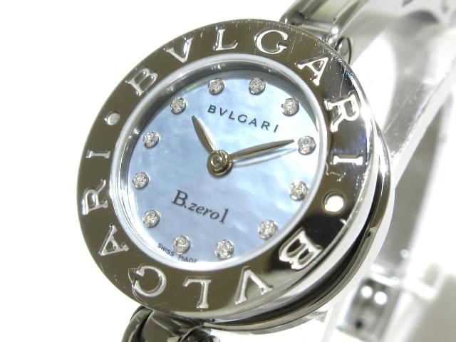 BVLGARI 腕時計 B-zero1 BZ22S 12Pダイヤインデックス シェル文字盤 ※革ベルト除く