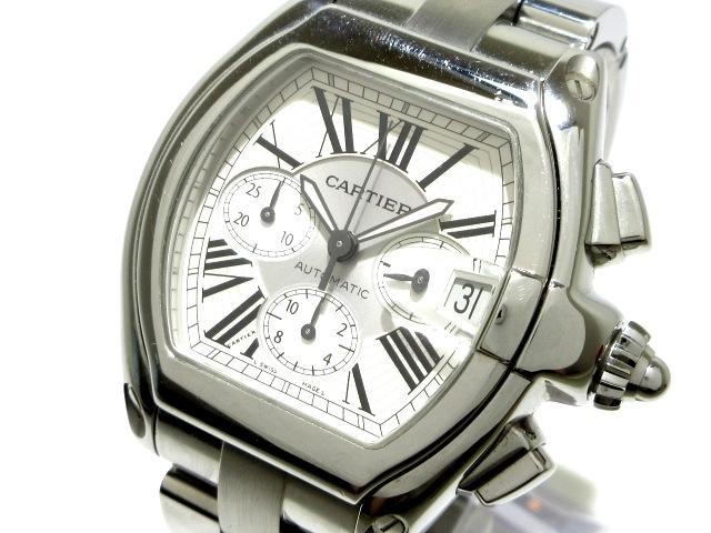 カルティエ ロードスタークロノグラフ 腕時計