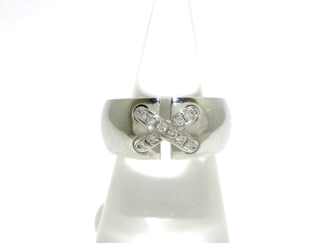 CHAUMET リング リアン・ドゥ・ショーメ K18×ダイヤモンド ホワイトセラミック