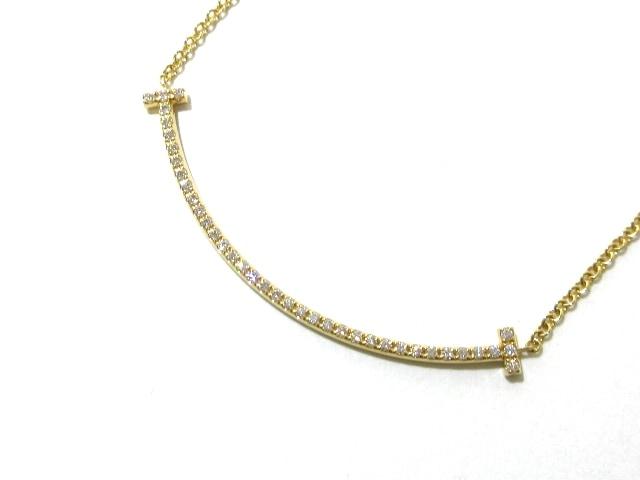 ネックレス/Tスマイルペンダント(ミニ)/K18YG×ダイヤモンド