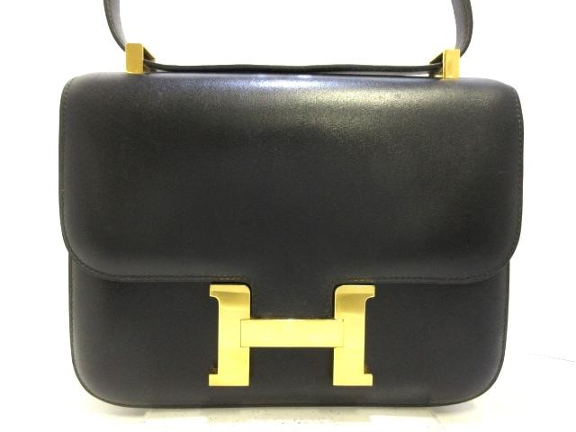 HERMES ショルダーバッグ コンスタンス23/ボックスカーフ /黒