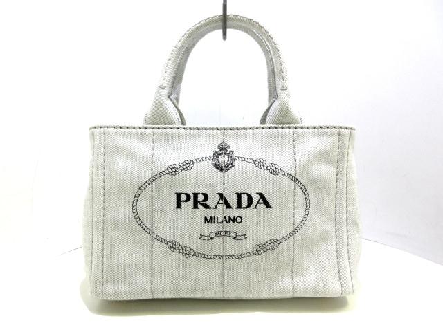 PRADA トートバッグ CANAPA/1BG439 デニム ※ギャランティ付き