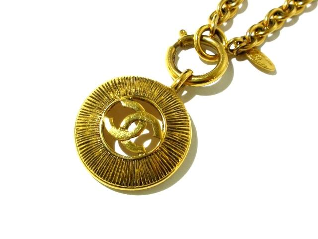 CHANEL ネックレス ココマーク 金属素材 ゴールド